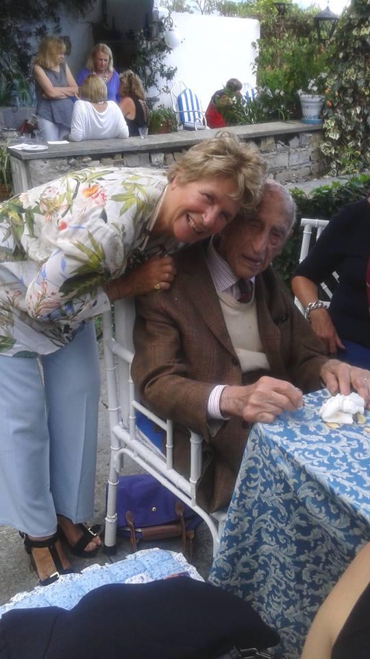 Alessandra Lancellotti psicologa della salute e delle organizzazioni, corporate e life coach con Gillo Dorfles