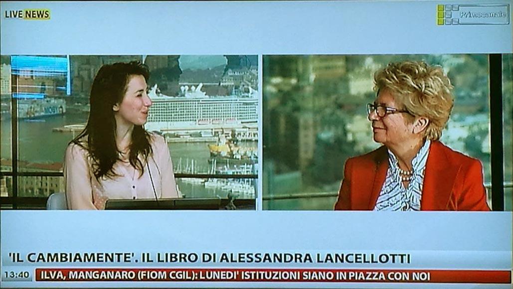 alessandra lancellotti intervista primocanale libro cambiamente