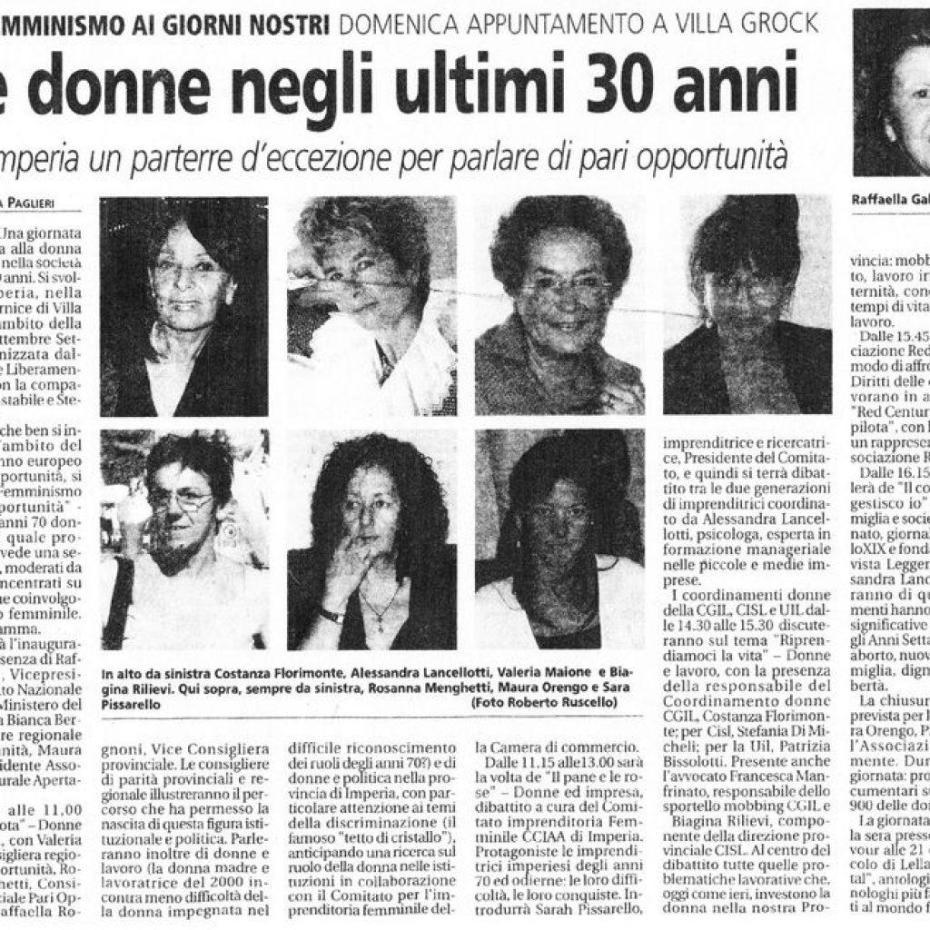 Le donne negli ultimi 30 anni Alessandra Lancellotti psicologo life coach psicoterapeuta