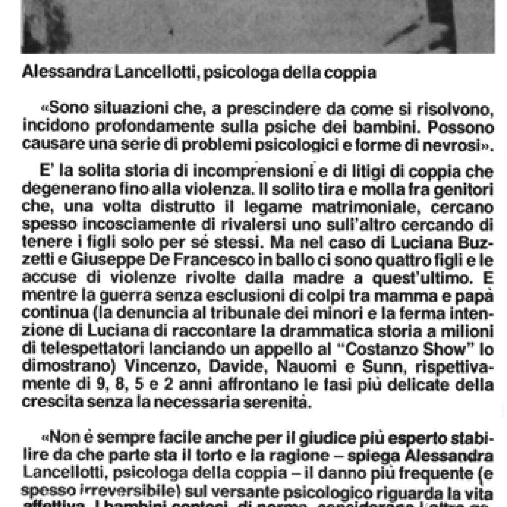 Crudeltà pagate dai bimbi Alessandra Lancellotti psicologo life coach psicoterapeuta