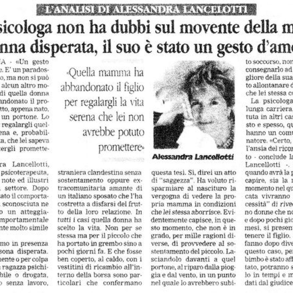 Un gesto d'amore Alessandra Lancellotti psicologo life coach psicoterapeuta