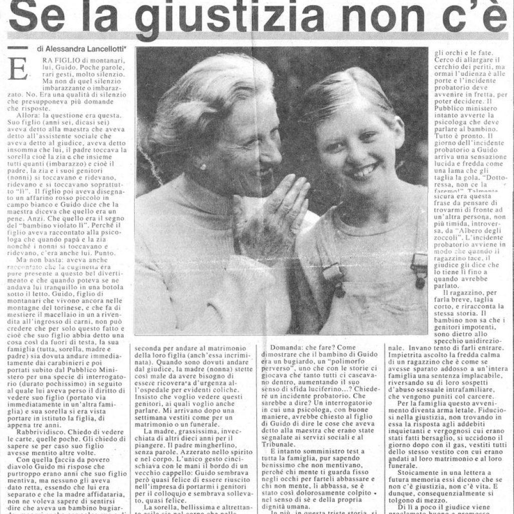 Se la giustizia non c'è Alessandra Lancellotti psicologo life coach psicoterapeuta