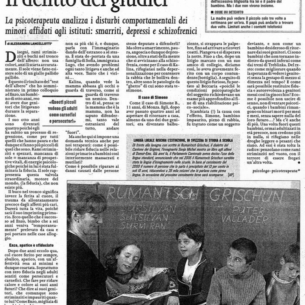 In orfanotrofio a 7 anni Alessandra Lancellotti psicologo life coach psicoterapeuta
