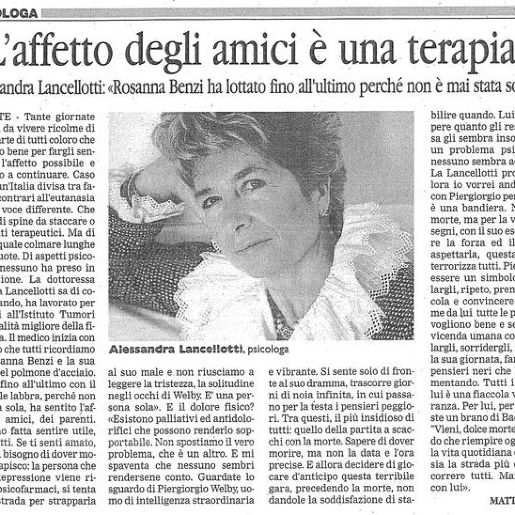 L'affetto come cura Alessandra Lancellotti psicologo life coach psicoterapeuta